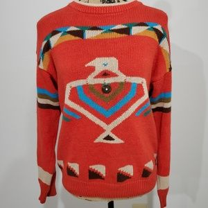 Vintage 80s/90s Native American themed sweater